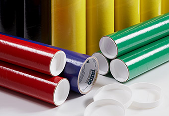 Variety Of Colored Mailing Tubes