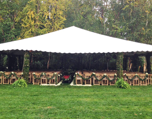Wedding Ceremony Area with Yazoo Mills Tubes